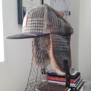 Urban Swagger Harris Tweed Ear Flap Baseball Cap